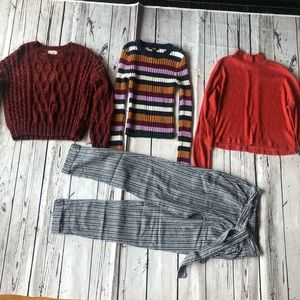 Lot Of Women's Sweaters Top Pants Size S And XS